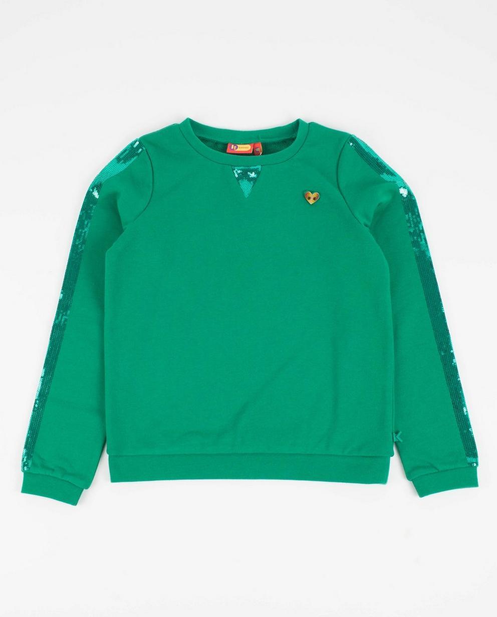 Sweatshirt mit Pailletten - in Grün, Ketnet - Ketnet
